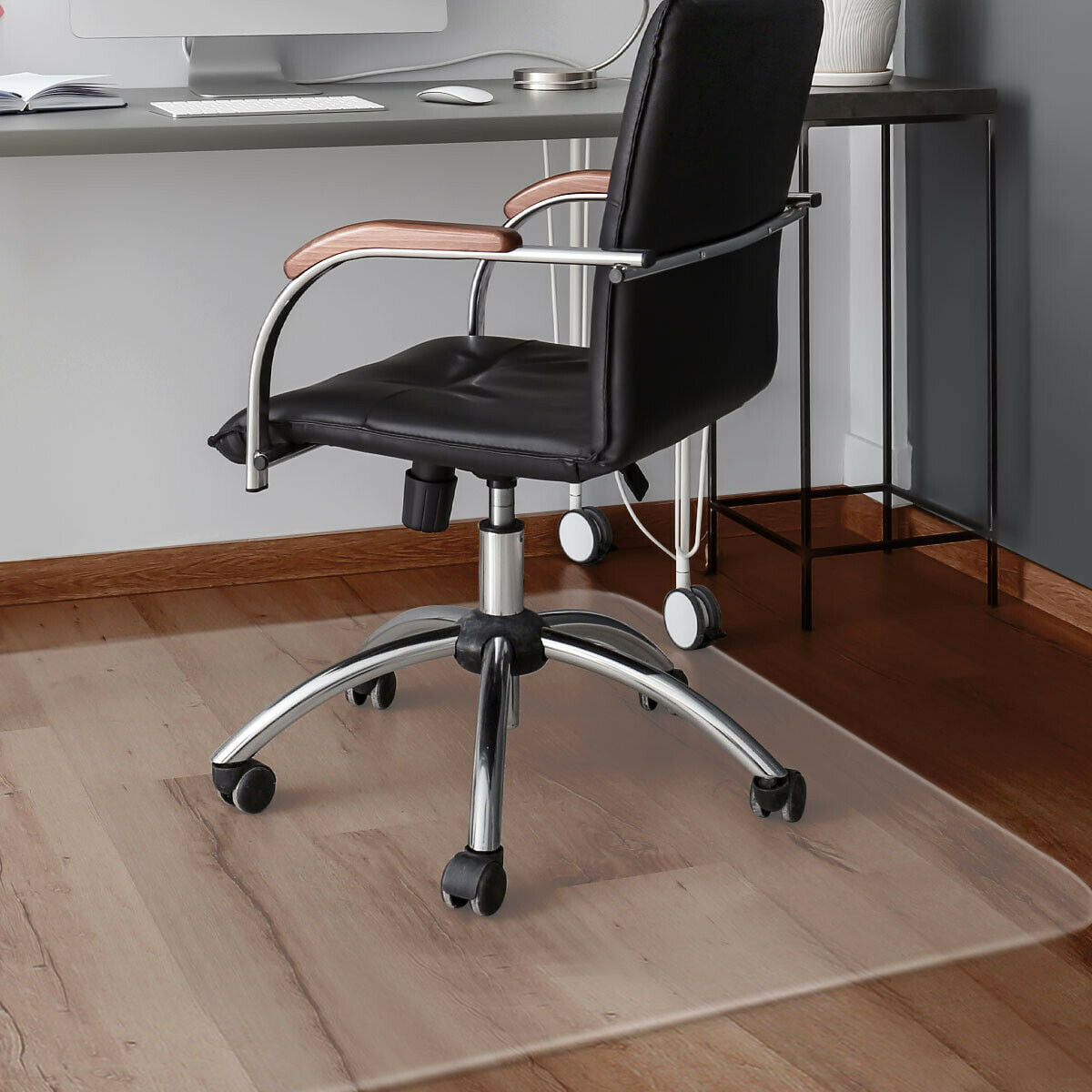 Costway 47 X 59 Pvc Chair Floor Mat Home Office Protector For Hard Wood Floors Walmart Com Walmart Com