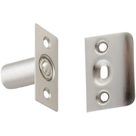 National Hardware V716 Series N335-950 Ball Catch, Steel, Satin (Satin Nickel Ball)