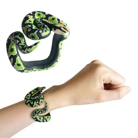 BEAD BEE Simulation Resin Animal Python Bracelet Handmade Painted PVC Material Toy (Pmc Resin)