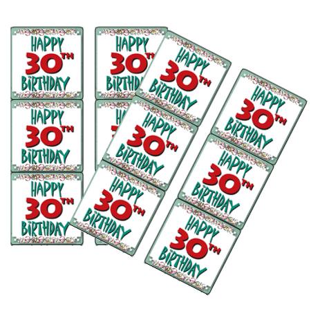 Happy Birthday 30th (120ct Happy 30th Birthday)