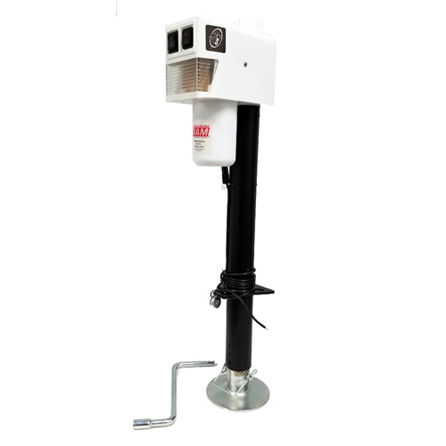 3,500 Lbs. Electric Trailer Jack with Drop Leg with White Cap by RAM Game Room
