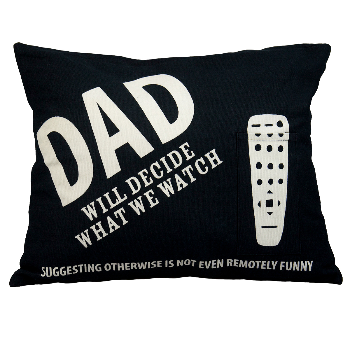 Enesco Dad's Remote Decorative Funny Throw Pillow 12x16 Lorrie Veasey Mom Couch