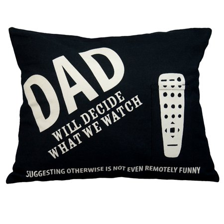 12x16 Inch Breakfast Pillow (Enesco Dads Remote Decorative Funny Throw Pillow 12x16 Lorrie Veasey Mom Couch )