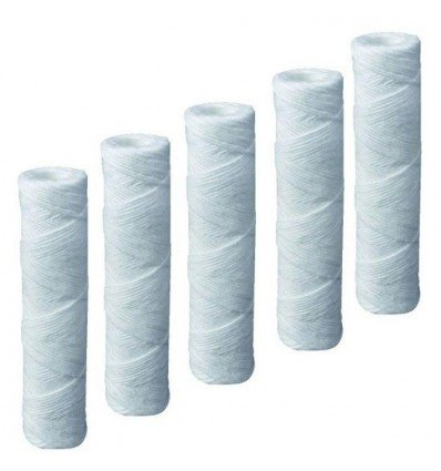 """Compatible Campbell 1ss Sediment Filter Cartridges, 5 Micron, 9 3/4"""", 5 Pack by Complete Filtration Services (CFS)"""