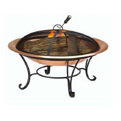 Venice Copper Finish Fire Pit with FREE Cover ()
