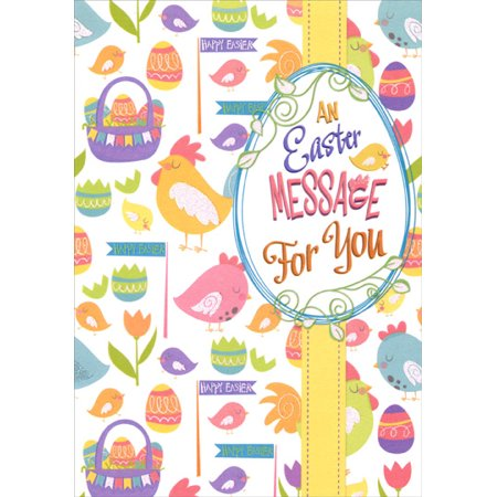 Designer Greetings Baskets, Eggs and Chicks Collage Easter Card