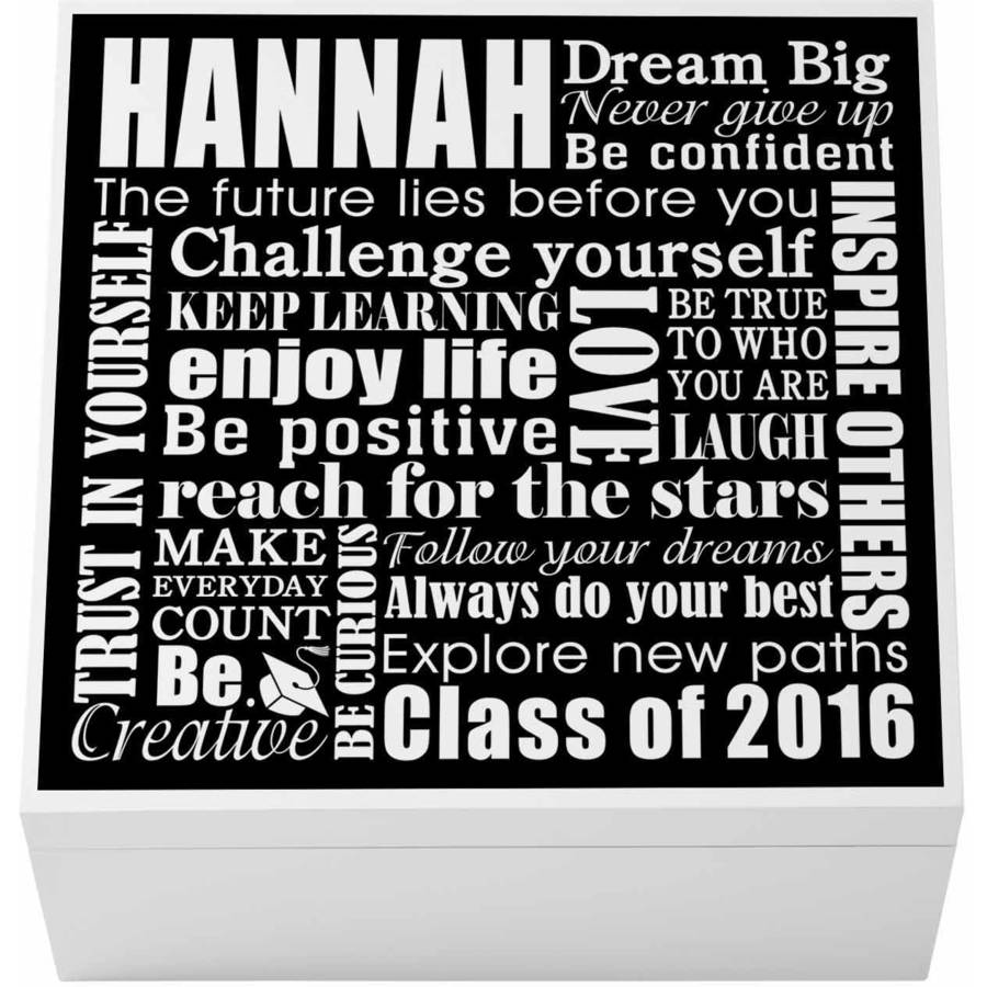 Personalized Dream Big Graduation Keepsake Box, Available in 2 Colors