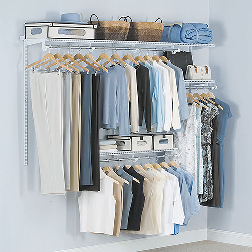 Rubbermaid Configurable 4u0027 to 8u0027 Closet Kit, White - Walmart.com