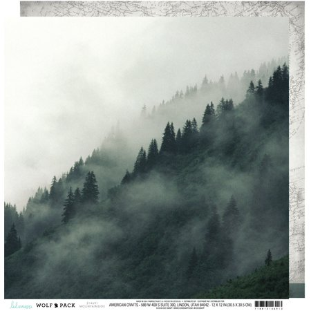 """Heidi Swapp Wolf Pack Double-Sided Cardstock 12""""X12""""-Mountainside - image 1 of 1"""