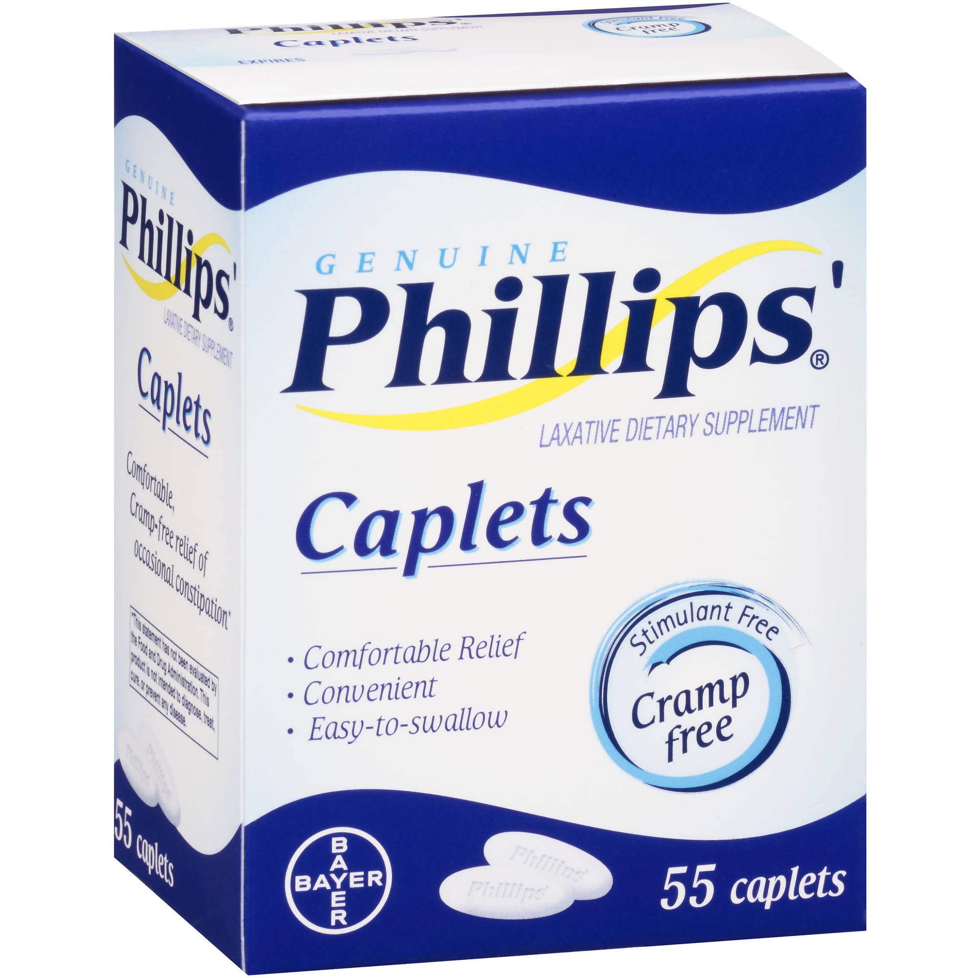 Genuine Phillips' Laxative Dietary Supplement, 55 count