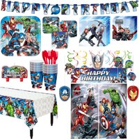 Avengers Superhero Birthday Party Kit, Includes Decorations, Serves 16