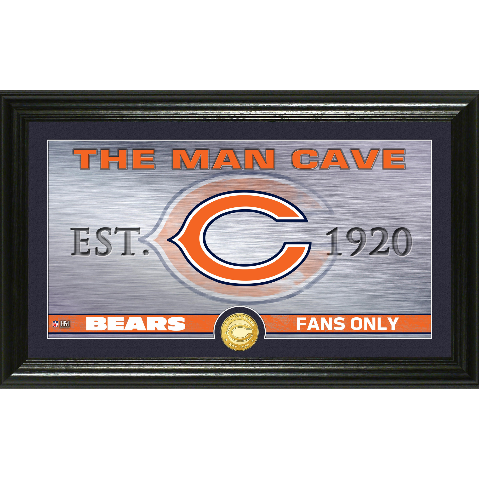 "Chicago Bears Highland Mint 12"" x 20"" Man Cave Photo Mint - No Size"