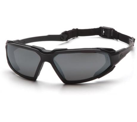 Pyramex Highlander Safety Glasses - Black Frame and Antifog Gray Lens