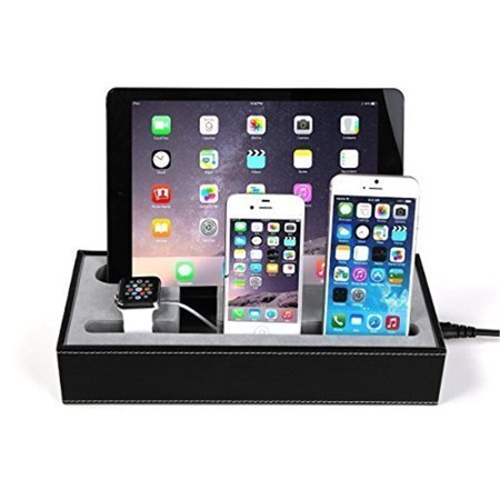 4 In 1 Multi Device Organizer For Iwatch Stand And Iphone Ipad Charging Station Dock Cell