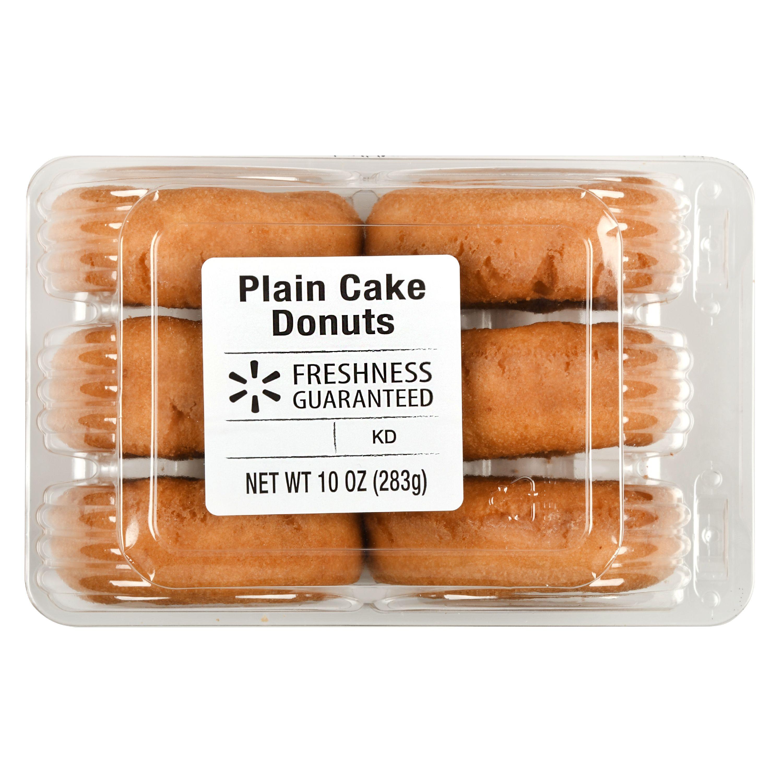 Freshness Guaranteed Plain Cake Donuts, 10 oz, 6 Count