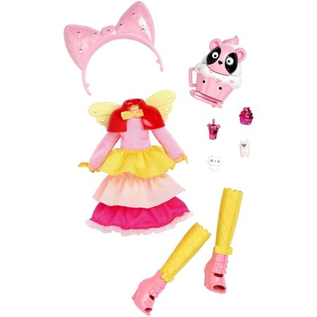 Mattel Doll Clothing - KuuKuu Harajuku Pink Cupcake Fashion Pack, Colorfully cool pink cupcake themed small doll outfit. By Mattel
