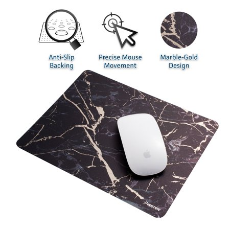 Insten Mouse Pad for Laptop Marble Mouse Pad Mat Ultra Thin Reflective Non -