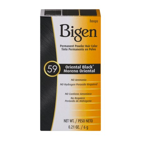 Bigen Permanent Powder Hair Color 59 Oriental Black  0 21 Oz
