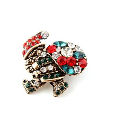Vintage Christmas Santa Brooch Breast Pins Clips Clothes Accessories Xmas Gifts ()