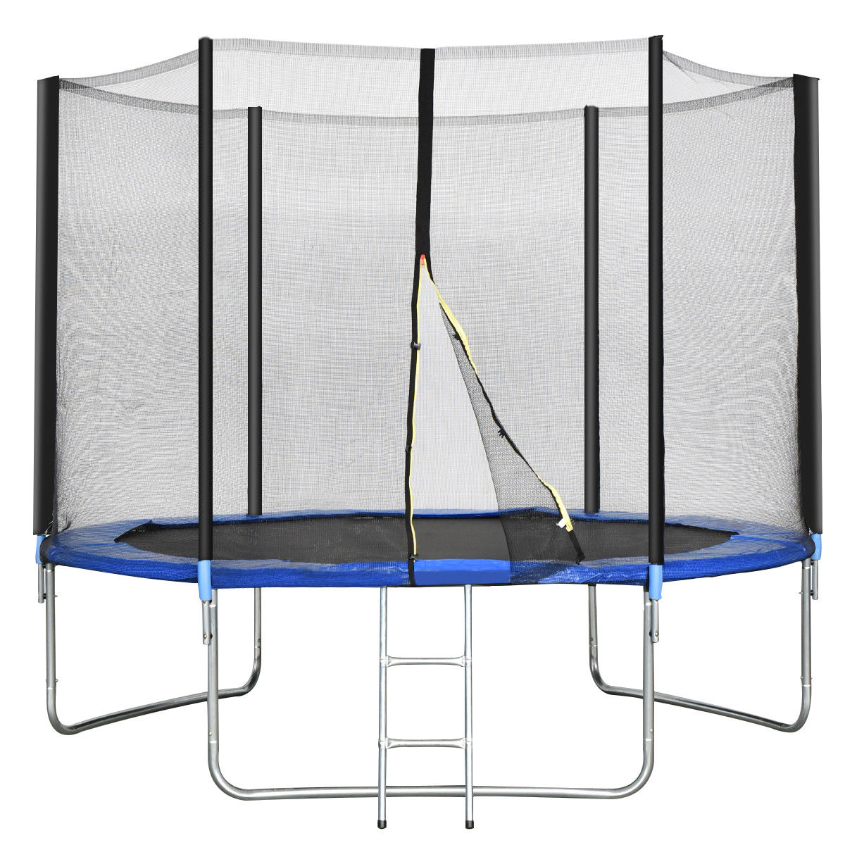 Gymax 10 FT Trampoline Combo Bounce Jump Safety Enclosure Net W/Spring Pad Ladder - image 10 of 10