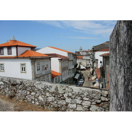 People Roofs Portugal Landscape Terrace Poster Print 24 x 36 ()