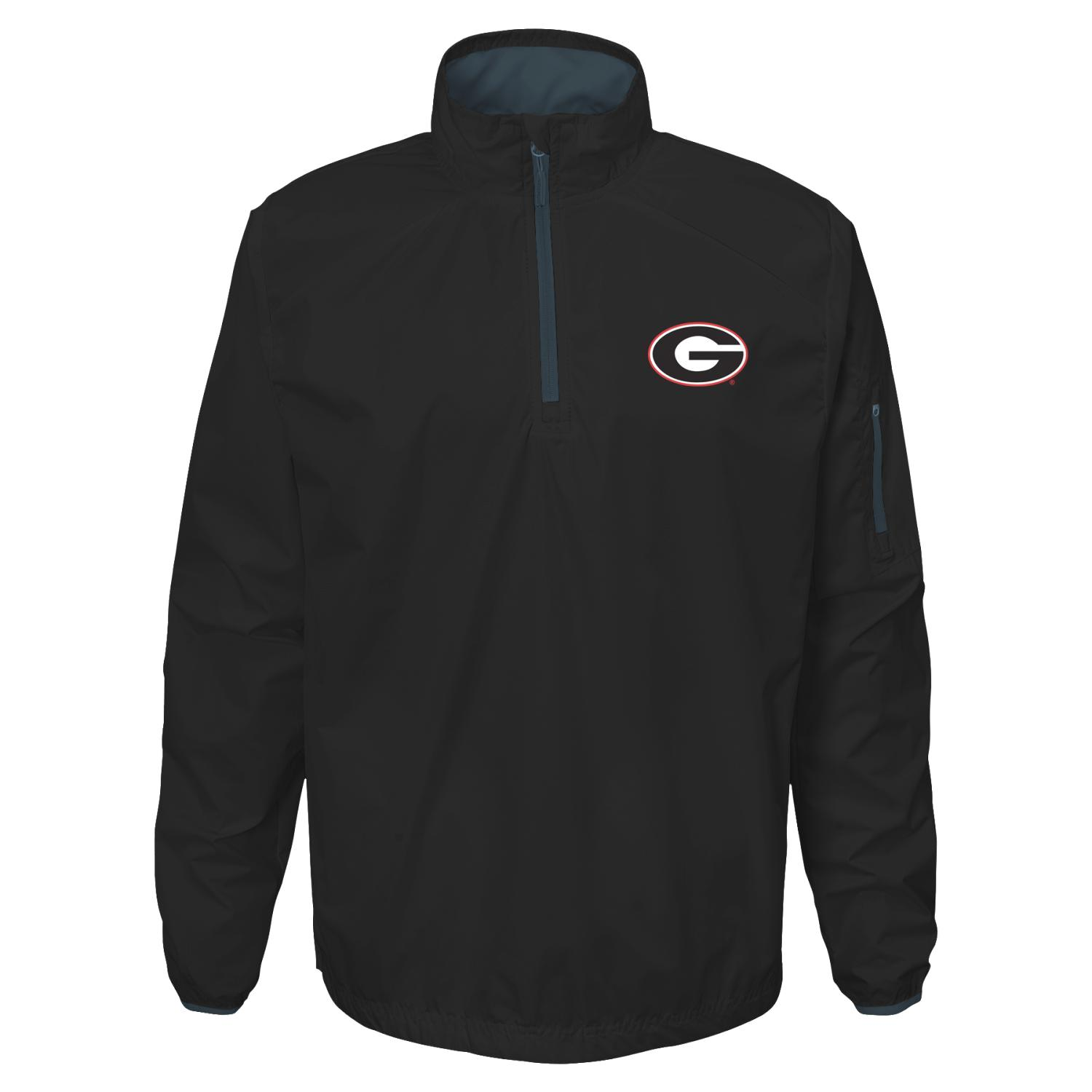 "Georgia Bulldogs NCAA ""Apex"" Men's 1 4 Zip Pullover Performance Jacket by Gen2"