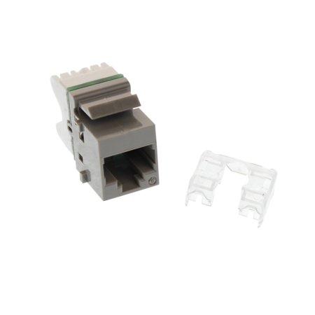 Siemon 10GMX-K04 Max Module Cat6 10G Keystone Jack Insert, Universal, Gray
