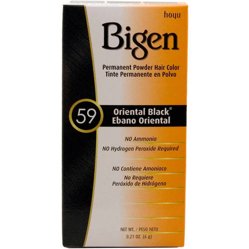 Bigen Permanent Powder Hair Color 59 Oriental Black, 0.21 Oz