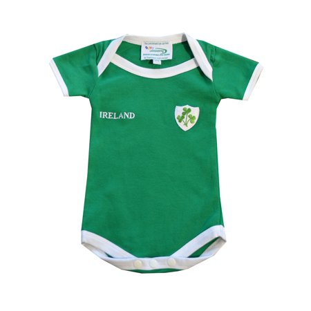 Emerald Green Ireland 3 Shamrock Baby Vest
