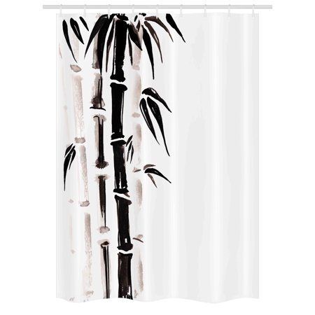 Bamboo Stall Shower Curtain Pattern In Traditional Chinese Watercolor Painting Style Asian Art Print