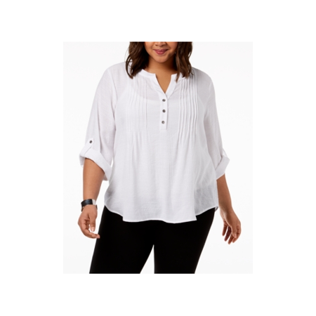 Pintucked Drop (NY Collection  - Pintucked Top - Plus - 1X )