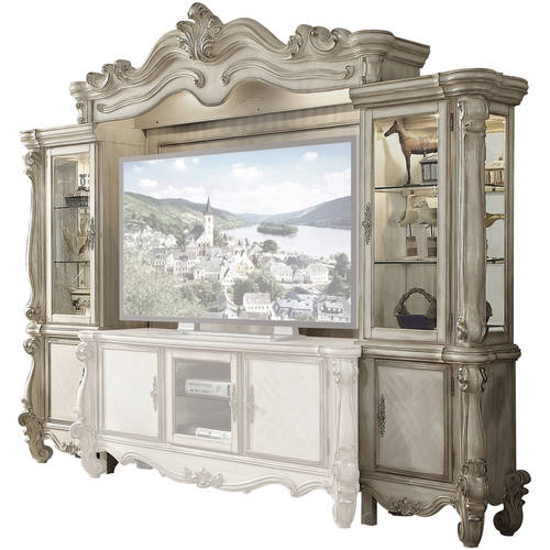 Image of Acme Versailles Entertainment Center for TV up to 72;, Bone White