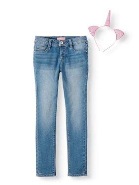 Skinny Jean with Unicorn Cat Ears Hairband (Little Girls & Big Girls)