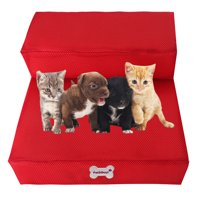 Breathable Mesh Foldable Pet Stairs Detachable Pet Bed Cat Dog Ramp 2 Steps
