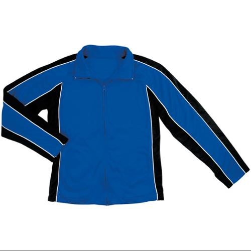 Women's Poly Tricot Knit Jacket Royal Small Size - SMALL