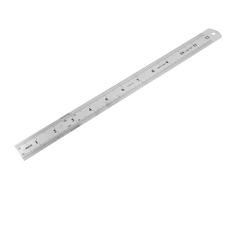 Unique Bargains Measurement Tool Stainless Steel Imperial Straight Ruler 30Cm 12 Inch