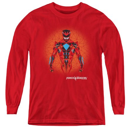 Power Rangers - Red Power Ranger Graphic - Youth Long Sleeve Shirt - Large