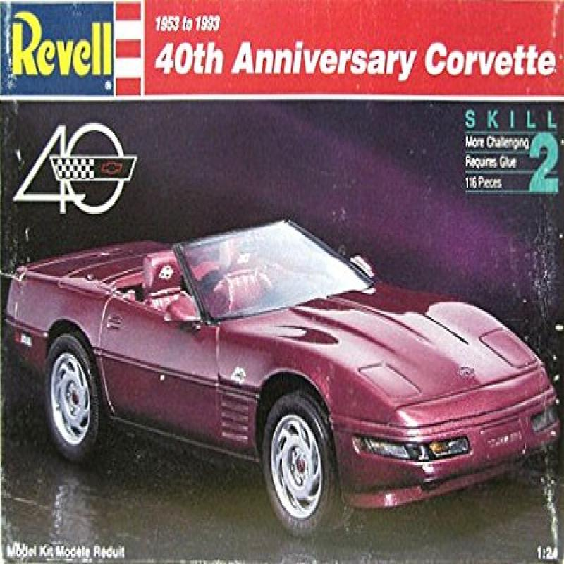 #7347 Revell 40th Anniversary Corvette 1 24 Scale Plastic Model Kit,Needs Assembly by