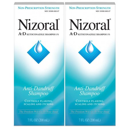 2 Pack, Nizoral A-D Anti-Dandruff Shampoo, 14 Oz