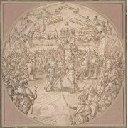 """Captain de Bours handing over the Keys to the Citadel of Antwerp to the Estates General Poster Print by Maerten de Vos (Netherlandish Antwerp 1532  """"1603 Antwerp) (18 x 24)"""