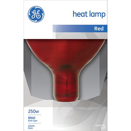 GE INCANDESCENT RED HEAT LAMP 250W BR40 FLOOD LIGHT 1-COUNT