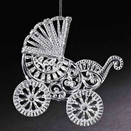 First Christmas Carriage (Baby Carriage Christmas Tree Ornament Holiday Decoration 1st Xmas 30195 New)