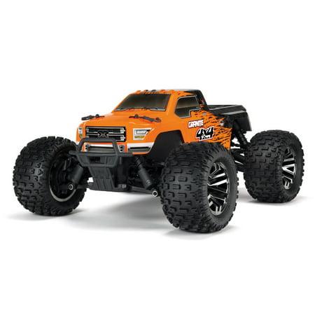4wd Rtr Truck - ARRMA 1/10 GRANITE 3S BLX 4WD Brushless Monster Truck RTR, Orange/Black, ARA102666