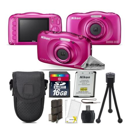 Nikon Coolpix W100 Point and Shoot Digital Camera - Pink - Kit A2 (Nikon Camera 100)