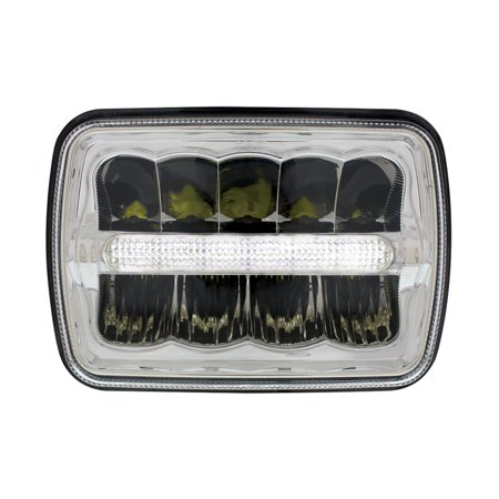 "5"" x 7"" LED Rectangular Light with LED Light Bar"