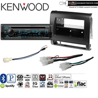 Kenwood KDCX303 Double Din Radio Install Kit with Bluetooth, CD Player, USB/AUX Fits 2012-2015 Non Amplified Toyota Tacoma JET BLACK DASH ONLY and a SOTS lanyard included
