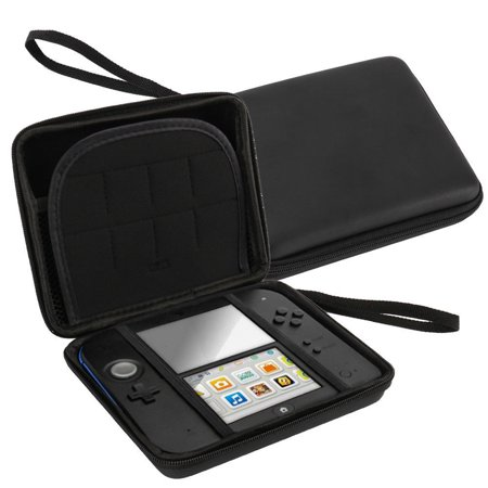 Hard EVA Storage Zip Case Protective Shell with Carry Handle for Nintendo 2DS,