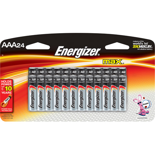 Energizer MAX AAA, 24 Pack Household Batteries