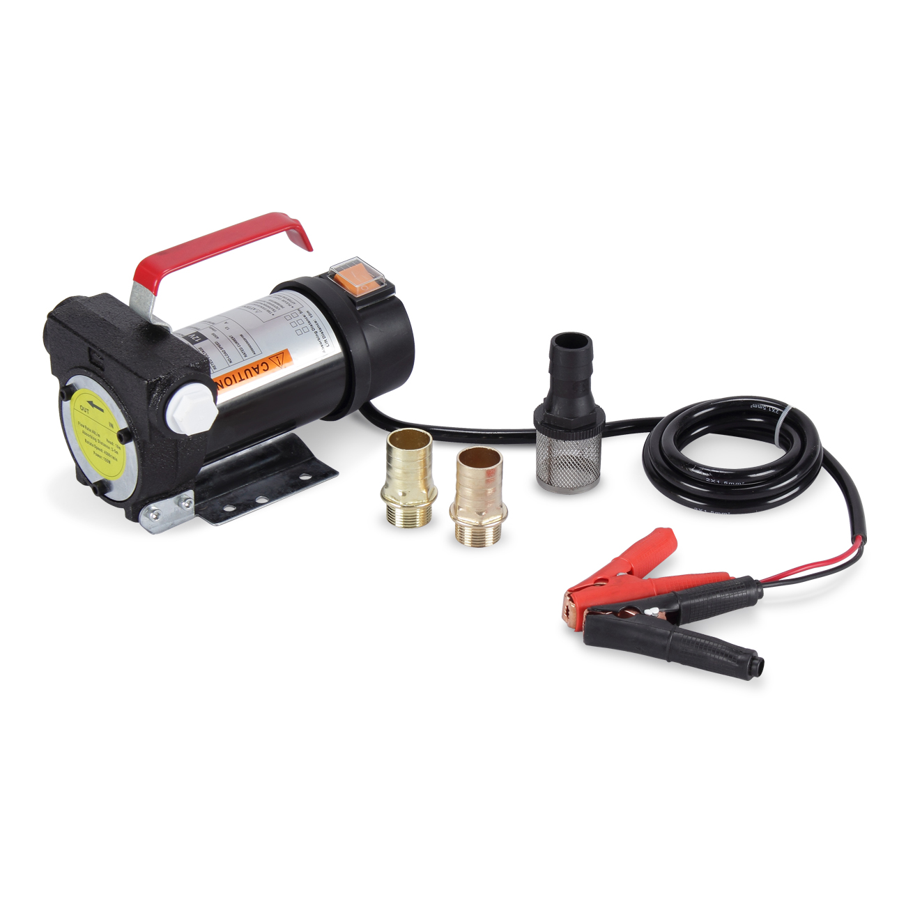 ARKSEN DC 12V 10GPM Electric Diesel Oil Fuel Transfer Extractor Pump 12-Volt Battery Powered