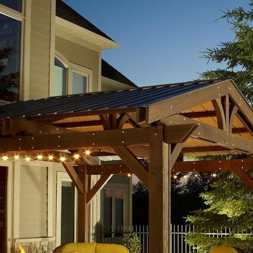 The Outdoor GreatRoom Company Lodge II Pergola Roof
